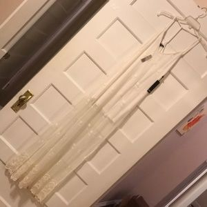 NWT Forever21 White T-Back Lace Maxi Dress